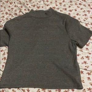 H and m shirt gray medium